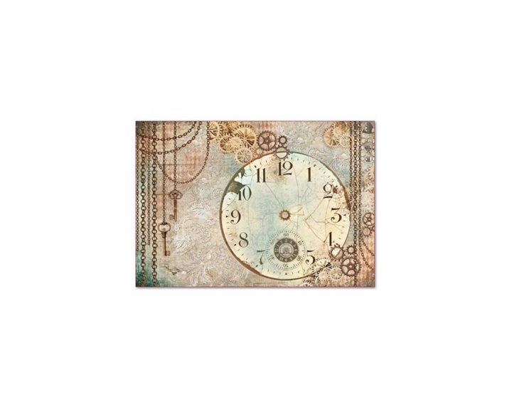 Ριζόχαρτο Decoupage Stamperia 48x33cm Clockwise Clock